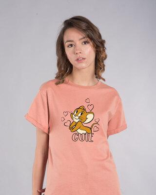 Shop Cute Jerry Boyfriend T-Shirt (TJL)-Front