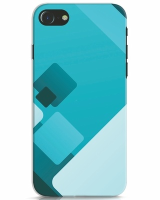 Shop Cyan Blocks iPhone 7 Mobile Cover-Front