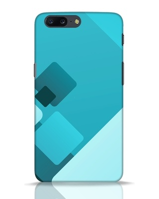 Shop Cyan Blocks OnePlus 5 Mobile Cover-Front