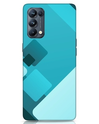 Shop Cyan Blocks Oppo Reno 5 Pro Mobile Cover-Front