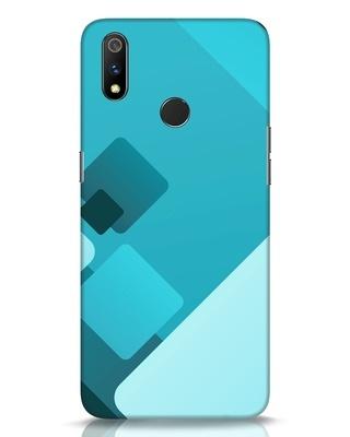 Shop Cyan Blocks Realme 3 Pro Mobile Cover-Front