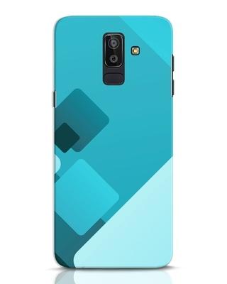 Shop Cyan Blocks Samsung Galaxy J8 Mobile Cover-Front
