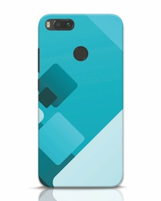 Shop Cyan Blocks Xiaomi Mi A1 Mobile Cover-Front
