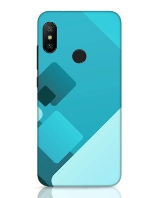 Shop Cyan Blocks Xiaomi Redmi 6 Pro Mobile Cover-Front