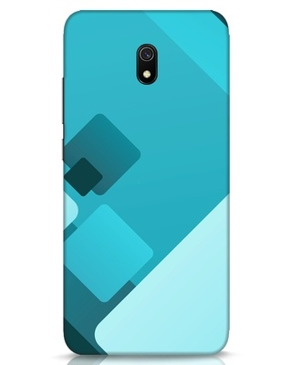 Shop Cyan Blocks Xiaomi Redmi 8A Mobile Cover-Front
