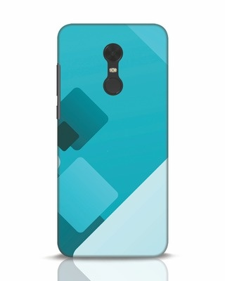 Shop Cyan Blocks Xiaomi Redmi Note 5 Mobile Cover-Front