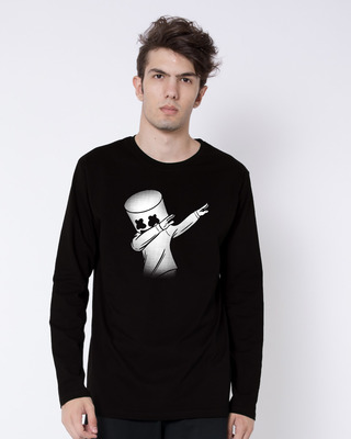 Shop Dab Marshmello Full Sleeve T-Shirt-Front