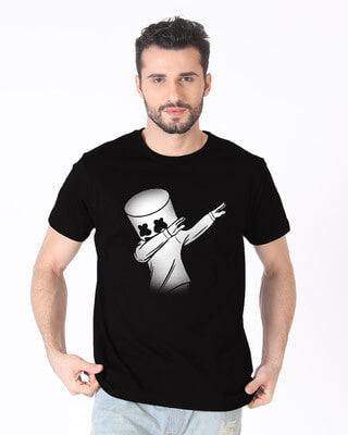 Shop Dab Marshmello Half Sleeve T-Shirt-Front