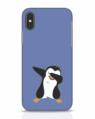 Shop Dab Penguin iPhone X Mobile Cover-Front