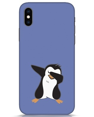 Shop Dab Penguin iPhone XS Mobile Cover-Front