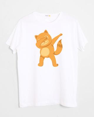 Shop Dabbing Catty Half Sleeve T-Shirt-Front