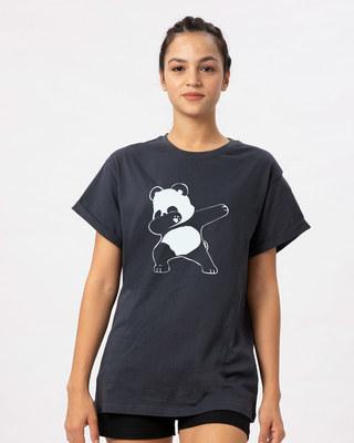 Shop Dabbing Panda Boyfriend T-Shirt-Front