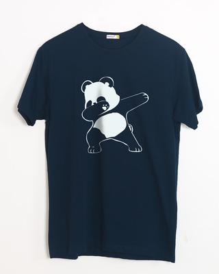 Shop Dabbing Panda Half Sleeve T-Shirt-Front