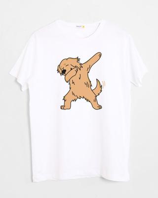 Shop Dabbing Retriever Half Sleeve T-Shirt-Front