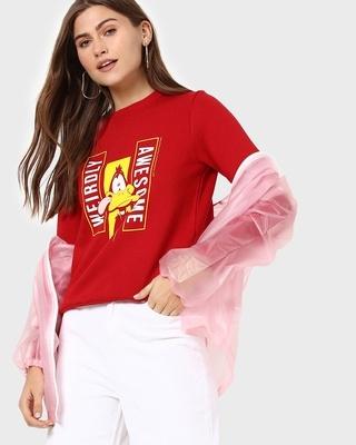 Shop Daffy Awesome Fleece Sweatshirt-Front