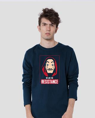 Shop Dali Resistance Full Sleeve T-Shirt Navy Blue-Front