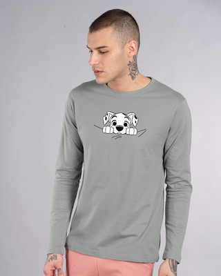 Shop Dalmatian Puppy Full Sleeve T-Shirt (DL)-Front