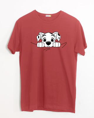 Shop Dalmatian Puppy Half Sleeve T-Shirt (DL)-Front