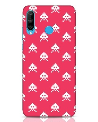 Shop Danger Pattern Huawei P30 Lite Mobile Cover-Front