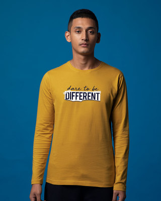Shop Dare To Be Different Full Sleeve T-Shirt-Front