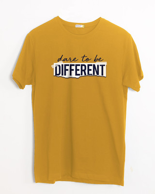 Shop Dare To Be Different Half Sleeve T-Shirt-Front