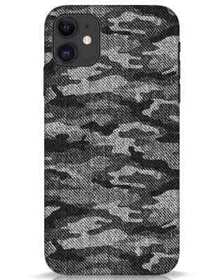 Shop Dark Camo iPhone 11 Mobile Cover-Front