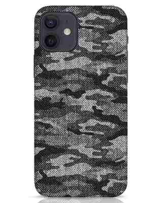 Shop Dark Camo iPhone 12 Mobile Cover-Front