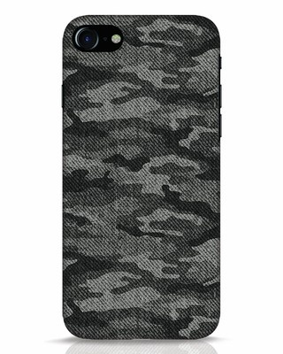Shop Dark Camo iPhone 7 Mobile Cover-Front