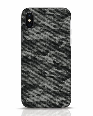 Shop Dark Camo iPhone X Mobile Cover-Front