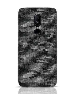 white_stub Shop Dark Camo OnePlus 6 Mobile Cover-Front