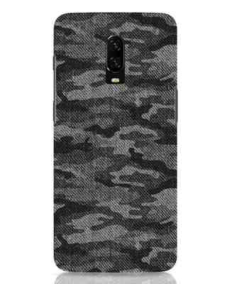Shop Dark Camo OnePlus 6T Mobile Cover-Front