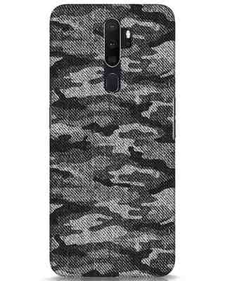 Shop Dark Camo Oppo A5 2020 Mobile Cover-Front