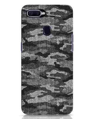 Shop Dark Camo Oppo F9 Pro Mobile Cover-Front