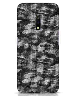 Shop Dark Camo Realme X Mobile Cover-Front