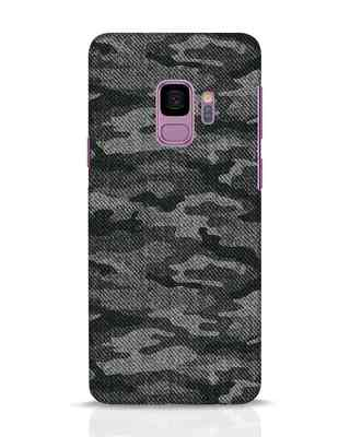 Shop Dark Camo Samsung Galaxy S9 Mobile Cover-Front