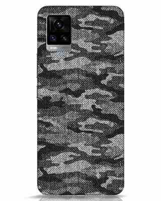 Shop Dark Camo Vivo V20 Mobile Cover-Front