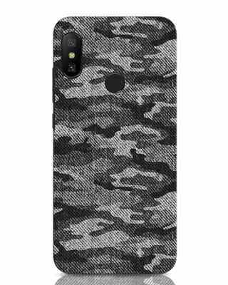 Shop Dark Camo Xiaomi Redmi Note 6 Pro Mobile Cover-Front