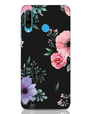 Shop Dark Florals Huawei P30 Lite Mobile Cover-Front