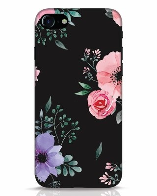 Shop Dark Florals iPhone 7 Mobile Cover-Front