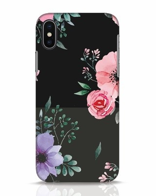 Shop Dark Florals iPhone X Mobile Cover-Front