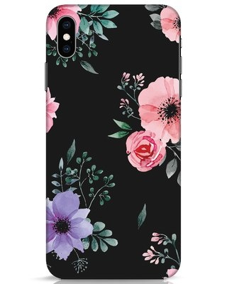 Shop Dark Florals iPhone XS Max Mobile Cover-Front