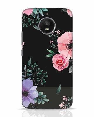 Shop Dark Florals Moto E4 Plus Mobile Cover-Front