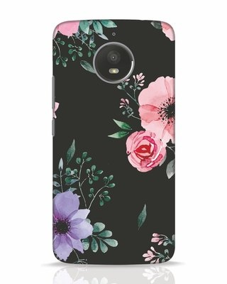 Shop Dark Florals Moto E4 Plus Mobile Cover-Front