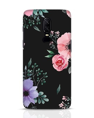 Shop Dark Florals OnePlus 6 Mobile Cover-Front