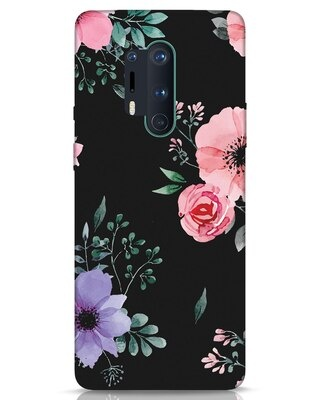 Shop Dark Florals OnePlus 8 Pro Mobile Cover-Front