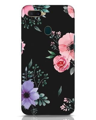 Shop Dark Florals Oppo A7 Mobile Cover-Front