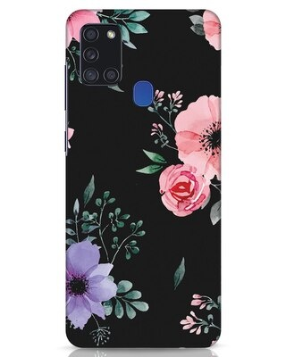 Shop Dark Florals Samsung Galaxy A21s Mobile Cover-Front