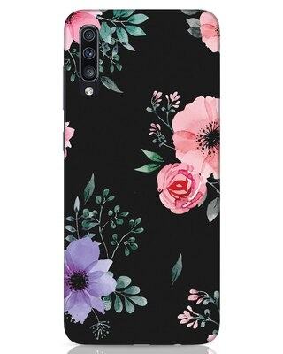Shop Dark Florals Samsung Galaxy A70 Mobile Cover-Front