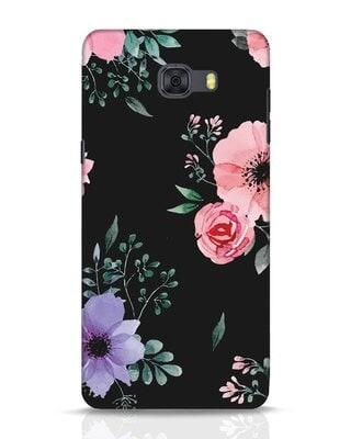 Shop Dark Florals Samsung Galaxy C9 Pro Mobile Cover-Front