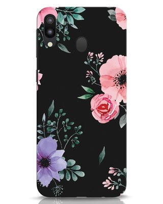Shop Dark Florals Samsung Galaxy M20 Mobile Cover-Front